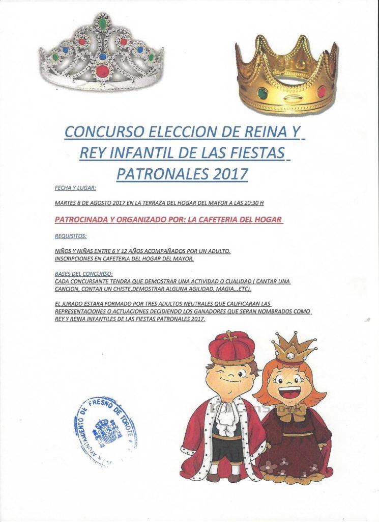 Elección de Reina y Rey Infantil de las Fiestas Patronales 2017