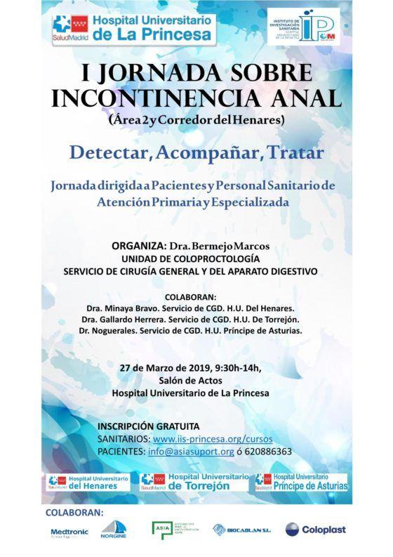 I Jornada de Incontinencia Anal